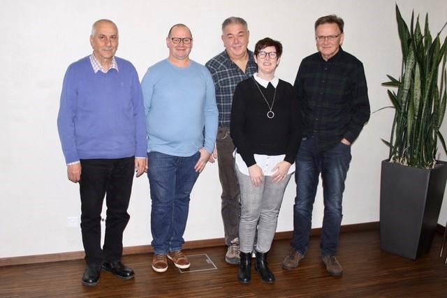 Vereinsvorstand ab April 2020: von links nach rechts, Heinz Ritter (Schriftführer), Heimo Vogt (Vertreter Werkstätte Balzers), Franz Senti (Vertreter Werkstätte Schaanwald), Tanja Kerschbaum (Präsidentin), Norman Elkuch (Kassier)